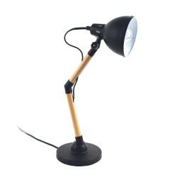 LAMPE A POSER EN BOIS ET METAL NOIR M4