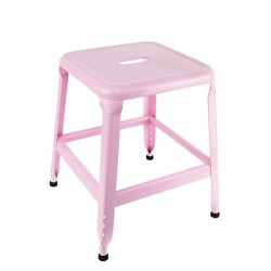 TABOURET METAL ROSE PM M4