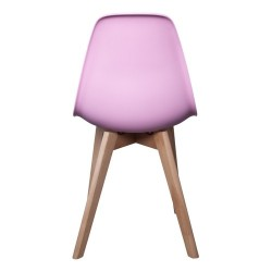 CHAISE SCANDINAVE ENFANT COQUE PP ROSE M2