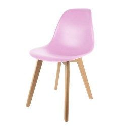 CHAISE SCANDINAVE COQUE PP ROSE M2