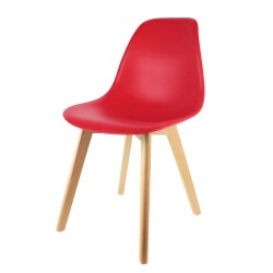 CHAISE SCANDINAVE COQUE PP ROUGE M2
