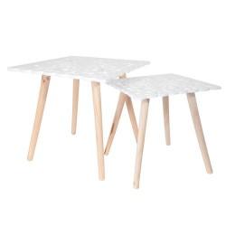 TABLES GIGOGNES PLATEAU CARRE ARABESQUE X2 M1