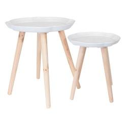 TABLES GIGOGNES PLATEAU MOTIF ARABESQUE X2 M1