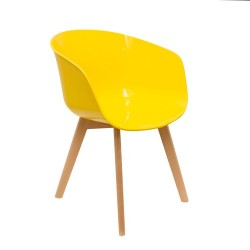 FAUTEUIL GLOSSY JAUNE M2