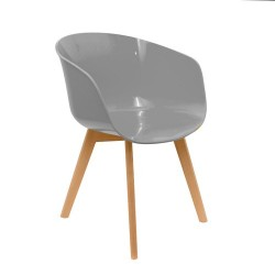 FAUTEUIL GLOSSY GRIS M2