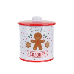 BOITE A BISCUITS RONDE METAL M12