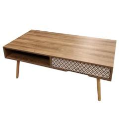 TABLE BASSE AVEC TIROIR ETHNICAL BOIS M1