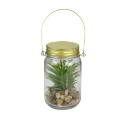 LAMPE MASON JAR PLANTE LED M12