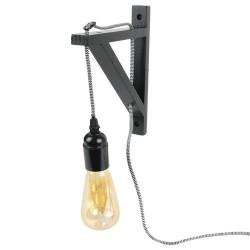 LAMPE MURALE NOIRE CABLE NOIR ET BLANC M4