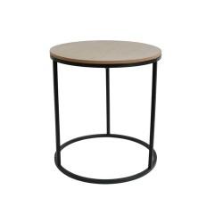 TABLES GIGOGNES RONDES X2 BOIS METAL M1