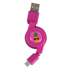 CABLE RETRACTABLE MICRO USB FLAMANT M24