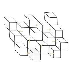 PELE-MELE FILAIRES NOIR 8 PINCES 46X42CM M12