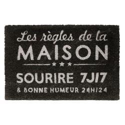 PAILLASSON REGLES DE LA MAISON 40X60CM M10