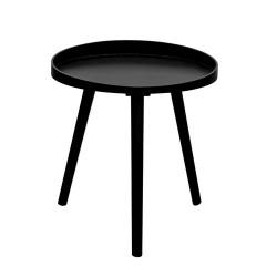 TABLE MOON NOIR DIAMETRE 48CM M1